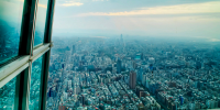 Taiwan Taipei 101 view from observation deck 800×400