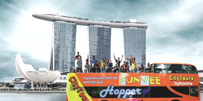 Singapore FunVee Open Top Bus 1Day Hopper Pass 80x400
