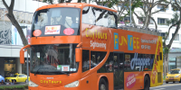 Singapore FunVee Open Top Bus 1Day Hopper Pass on the road 800×400
