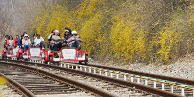 Korea Gangchon Rail Bike Spring 800x400