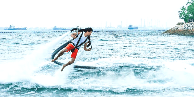 Sentosa water jetpack or jet blade triba east
