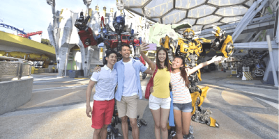 Singapore Universal Studios Buddies Travel with Transforman 800x400
