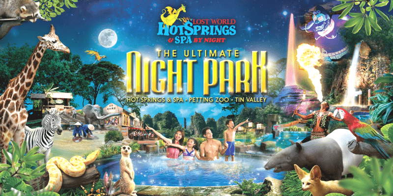sunway lost world of tambun hotspring spa night park triba east