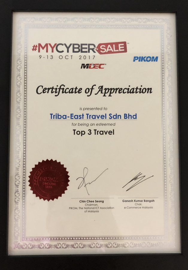 Triba East Travel Mycybersales